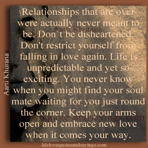 Relationships that are over ..