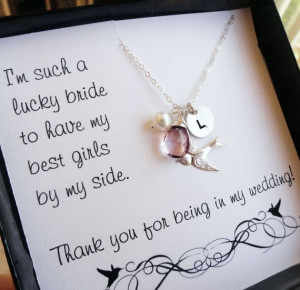Bridesmaid thank you cards thank you for being in by BriguysGirls, $47 ...
