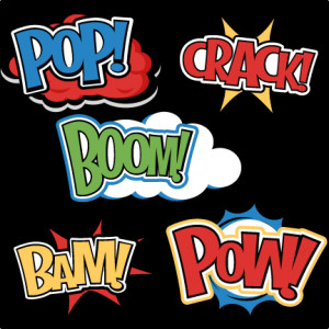 Words SVG cutting files for scrapbooking superhero clipart clip art ...