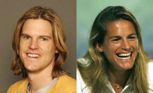 Nathan Bracken and Amelie Mauresmo