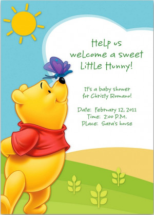 ... Us Welcome A Sweet Little Hunny It's Baby Shower For Christy Romano