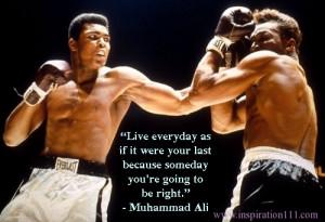 Muhammad Ali Sports Quotes