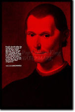 NICCOLO MACHIAVELLI ART PRINT PHOTO POSTER GIFT QUOTE ART OF WAR THE ...
