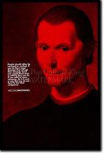 NICCOLO MACHIAVELLI ART PRINT PHOTO POSTER GIFT QUOTE ART OF WAR THE ...