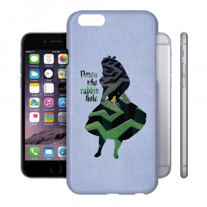 Alice in Wonderland Down The Rabbit Hole Quote Phone Hard Shell Case ...