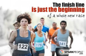 ... Quote - The finish line is just the beginning of a whole new race