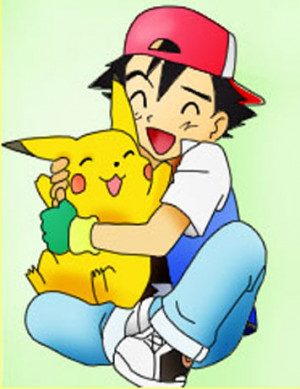 Ash And Pikachu Hug Ash and pikachu by yourfaceee