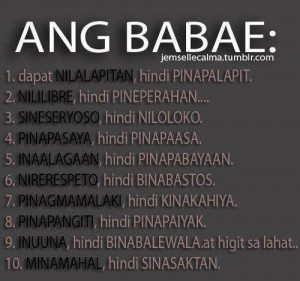 Ang Babae Quotes Images - Pinoy Simple Quotes