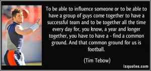More Tim Tebow Quotes