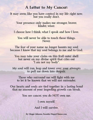 Cancer Poem Follow us on Twitter @Relay For Life of Vinings - Buckhead ...