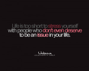 black, grey, issue, life, life is short, people, pink, quote, stress ...
