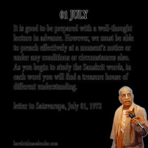 Srila Prabhupada Quotes For Month July 01