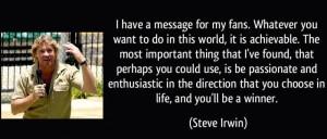 "Waltzing Matilda With Steve Irwin """