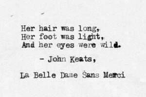 John Keats - La belle dame sans merci