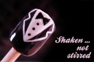 black, bow tie, james bond, nail art, quote, shaken not stirred, shirt ...