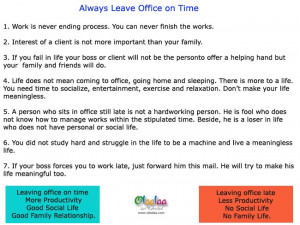 always leave office on time always leave office on time
