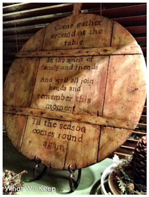 old wooden board with quote