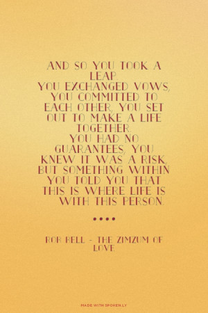 ... this person. Rob Bell - The ZimZum of Love | #love, #marriage, #zimzum