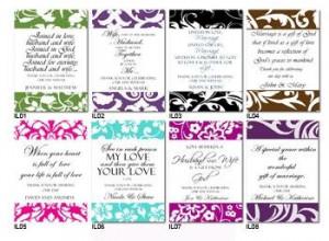 Caramel Corn Wedding Favor Label Designs