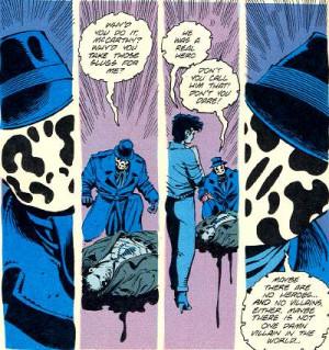 Watchmen Comic Rorschach