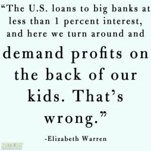 Elizabeth Warren #quote on #education