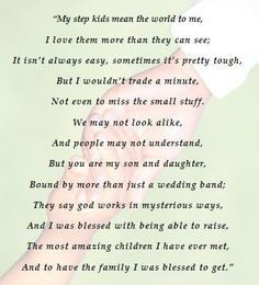 This is for my step kids =) Although I will never be their biological ...