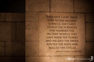 World War II Memorial (FDR Quote)