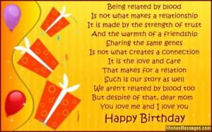 Sweet birthday greeting card for stepmom