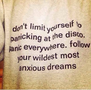 ... bands punk pop merch p!atd panic! at the disco brendon urie quote on