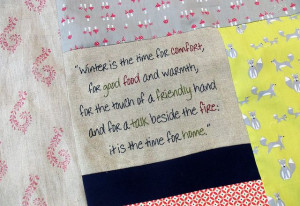 Winter poem Winter's Comfort Quilt by Bustle & Sew, via Flickr