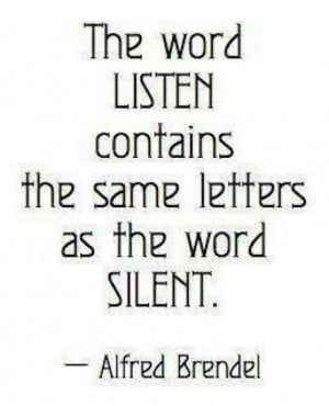 The word LISTEN contains the same letters a sthe word SILENT.