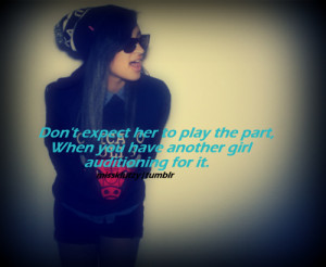 Cute Girls sunglasses cheating swag quote