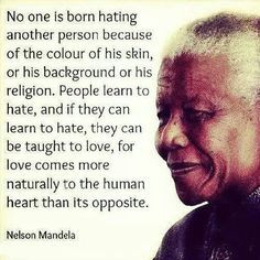 Racism quote - Mandela...Students will complete a mini research ...