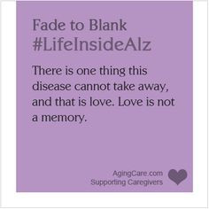 Alzheimer's....find a cure!!!