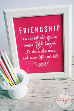 Friendship Art Best Friend Gift Quote Print For Her