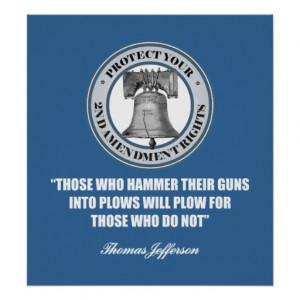 Liberty Bell -Jefferson 2nd Amendment Quote Print