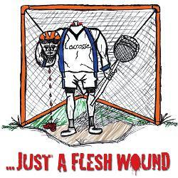 lacrosse_goalie_fleshwound_greeting_card.jpg?height=250&width=250 ...