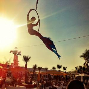 Aerial hoop...flying mermaid!