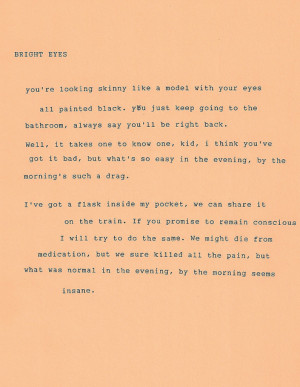 Bright Eyes Love Quotes Rebloggy Post Conor #13