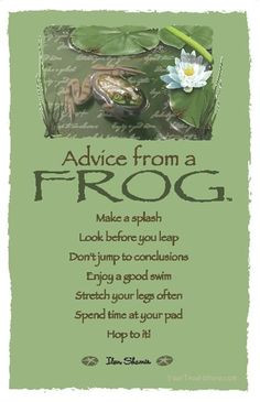 Advice From a Frog ~:By Ilan Shamir ☆ More