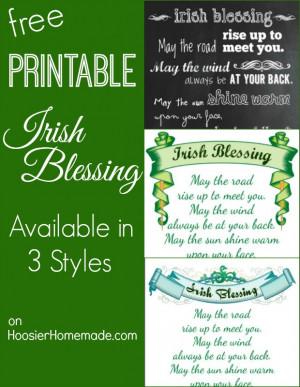 Printable Irish Blessings: Available in 3 Styles | on HoosierHomemade ...