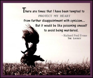 Tempted to protect my heart...
