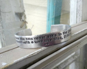 Hafiz 'Even after all this time ' Quote Bracelet - 1/2 in. Aluminum ...