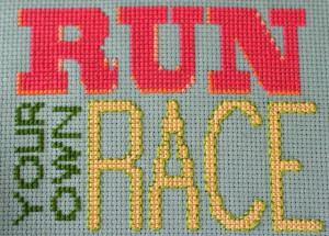 run your own race | whipstitch