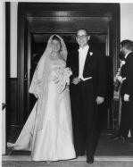 Dick Thornburgh and his bride Virginia Judson Thornburgh on their