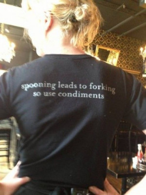 This was on our waitress's shirt (10 random shirt pics) | High Octane ...