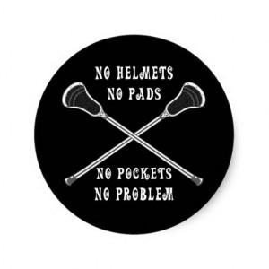 Girls, Lacrosse Round Stickers