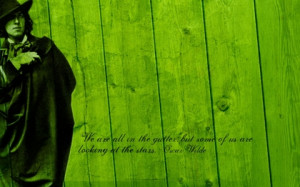 green quotes oscar wilde wood texture 1280x800 wallpaper Art HD ...