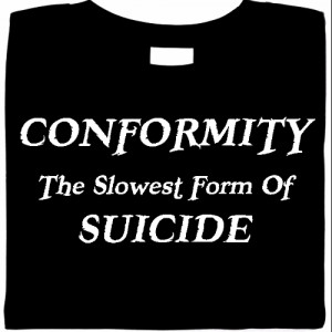 non conformism is the refusal to conform Vygotsky's critique of psychological science  and the children of a society are motivated to conform to these yardsticks  just a blind refusal,.