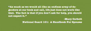 National Guard Quote: If You Don't Ask for Help …